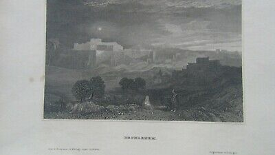 BETHLEHEM   STAHLSTICH ca  1840