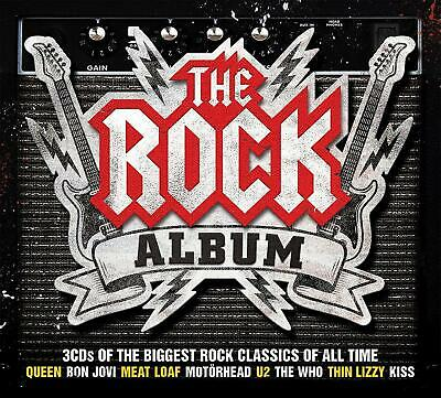THE ROCK ALBUM NEW SEALED 3CD Hits By Queen,Free,Rush,The Who, Kinks,Boston ETC