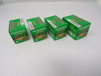 Lot of 4 Fuji color 35mm film Superia Reala 100 36 exp expired 2009    364