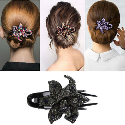 Hairpin Slide Pins Crystal Grips Accessories Flower Clips Hair Comb Women's