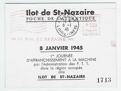 France - Ilot de Saint-Nazaire - bloc affranchissement machine- cote = 170 euros