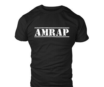 Crossfit AMRAP Mens Gym Workout MMA T-Shirt Bodybuilding T Shirt Top Gift
