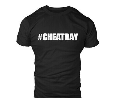 #CHEATDAY Mens Gym Workout MMA T-Shirt Bodybuilding T Shirt Top Gift