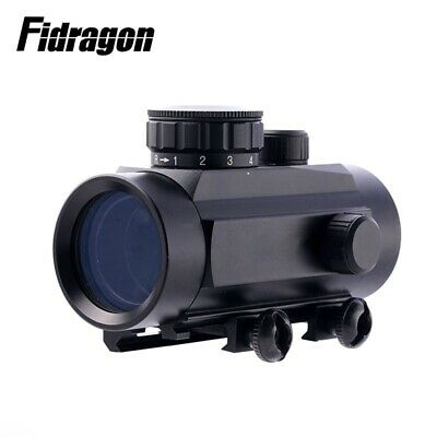 Hunting Tactical Rifle 1X30 scope red dot Reticle Optical with 3 red green point