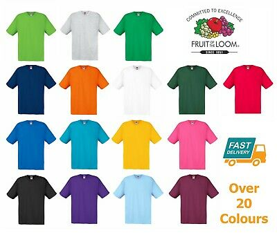 Fruit Of The Loom Men's Women T Shirts Great Value Brand New Blank Plain TShirt