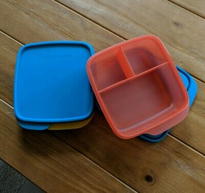 Tupperware  Lunch-It Divided Dish Containers - Set of 2 - Brand New!