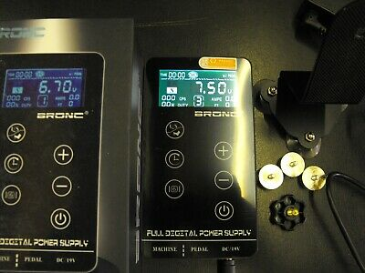 PROFESSIONAL bronc digital tattoo power supply with stand 0-18v black