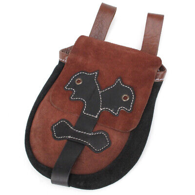 Leather Belt Pouch.Viking/Saxon period style: Ragnor Game of Thrones Larp RP
