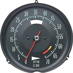Tachometer-Assembly With 6500 Rpm Red Line-69-71