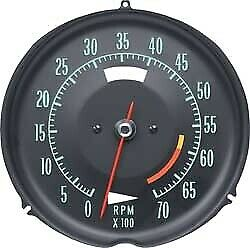 Tachometer-Assembly With 6000 Rpm Red Line-69-71