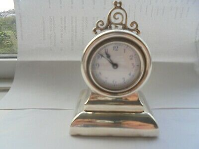 8 day silver mantel clock late 1800s early 1900s case english movement french