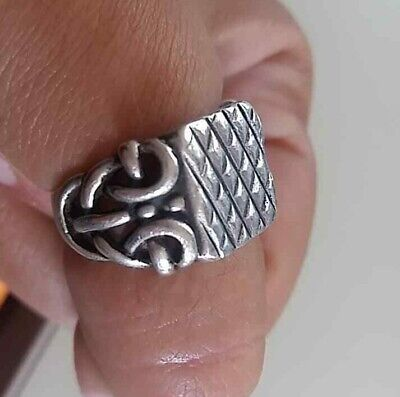 Musueum Quality Artifact Ancient medieval viking Military Silver Ring