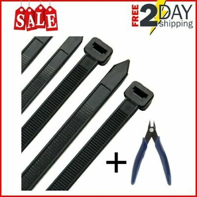 HS Extra Long Heavy Duty Zip Tie Straps (50 Pack) Plastic Duct