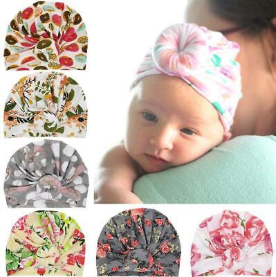 Infant Baby Printing Turban Hat Toddler Kids Girl Cotton Blends India Hat