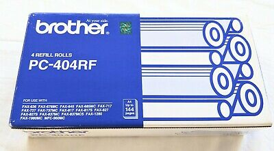 Brother PC-404RF Fax Print Refill Rolls x 3, sealed in packets