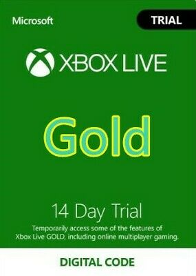 [INSTANT] XBOX LIVE 14 Day GOLD Trial Membership Code 2 Weeks 14 Days