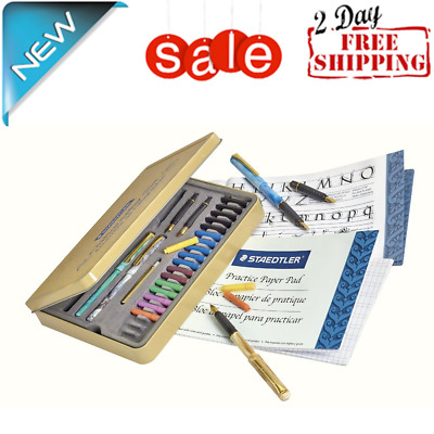 Calligraphy Pen Set Starter Kit Letters Ink Cartridge Practice Pad Included New