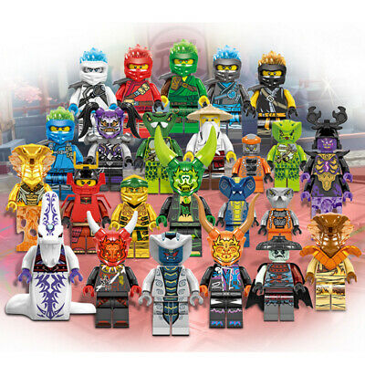 New 24 Pcs Ninjago Mini Figures Kai Jay Sensei Wu Master Building Blocks Toys uk