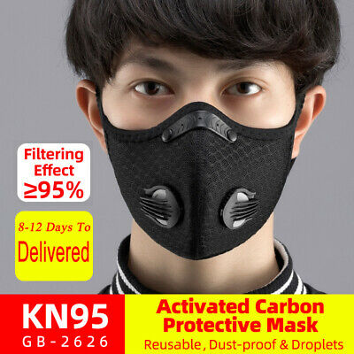 ROCKBROS Bike Dust Pollution Mask Allergy Cycling Asthma Reusable Mouth Face