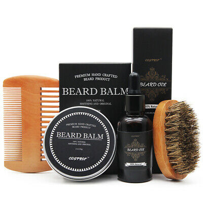 Beard Oil Beard Whole Kit for Men - Grooms Beard, Mustache, Boosts Hair Growth