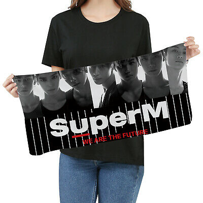 Kpop SuperM We Are The Future Lucas Fan Goods Picture Photo Towel Concert Banner