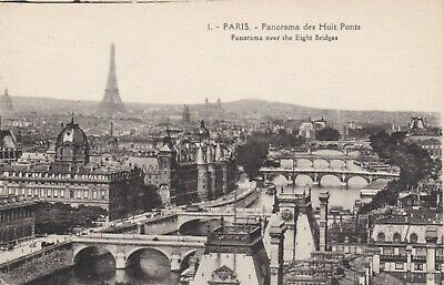 carte postale  paris   le panorama des huits ponts