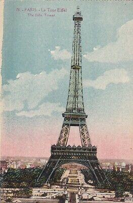 carte postale  paris   tour eiffel