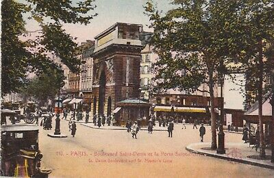 carte postale  paris   boulevard saint denis