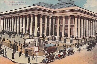 carte postale  paris  la bourse