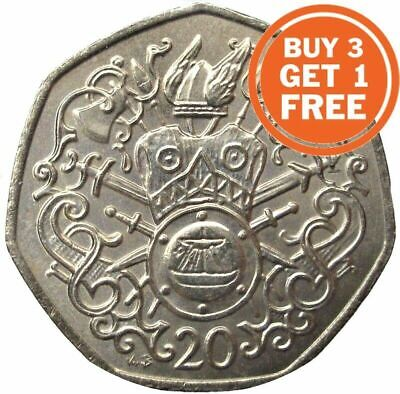 20P Isle Of Man Twenty Pence 1982 To 2018 With Die Marks Choice Of Date