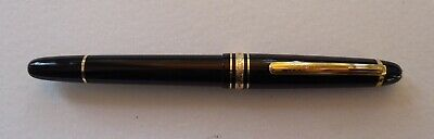 """Used Montblanc 145 Fountain Pen Black / Gold """"Ob"""" Nib Very Good Condition"""