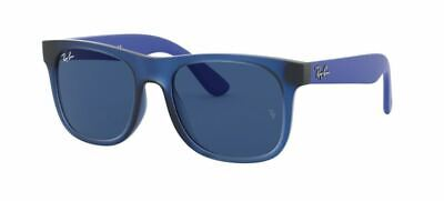Ray Ban 9069S 48 Junior 706080 Sunglasses Rubber Blue Occhiale Sole Bambini