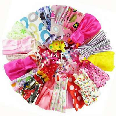 50 Items Of Barbie Doll Dresses Clothes Bundle Shoes & Hangers