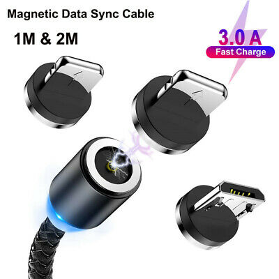 Magnetic Micro USB C Type C Cable for iPhone Samsung Huawei Quick Charge Charger
