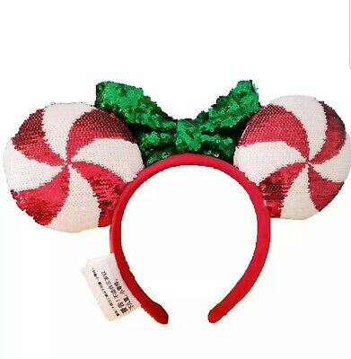 Disney Parks Christmas Holiday Peppermint Ears Headband Mickey Minnie New 2019