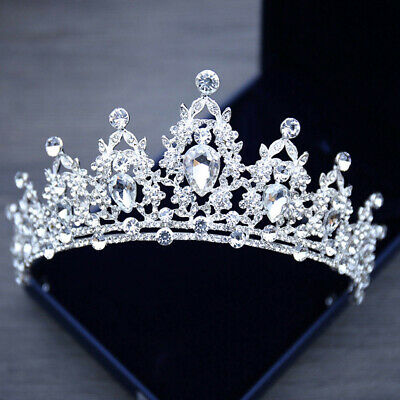 Style Wedding Vintage Tiara Bridal Alloy Crystal Crown Hair Accessories