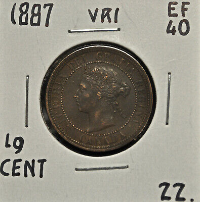 1887 Canada One Cent EF-40