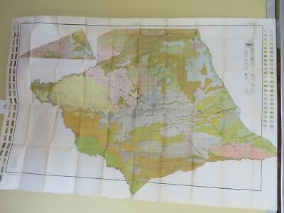 """1914 Antique Map California Merced Planada Snelling Atwater 56 X 36"""" #8884"""