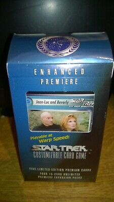 Star Trek  CCG's Enhanced Premiere Jean - Luc & Beverly Trading Cards Deck