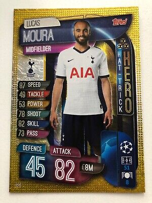 Match Attax 2019/20 Champions League - Lucas Moura Tottenham Hat-Trick Hero #320