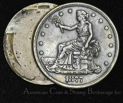 $1 One Dollar 1877 S Trade Dollar Opium / Box Broken Hinge Still Nice