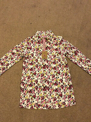 Girls 11-12 Years Floral Joules Zip Up Top, New With Tags