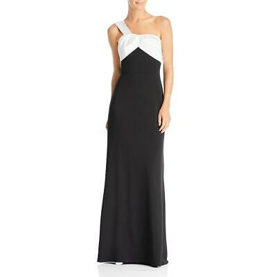 Adrianna Papell Womens Black-Ivory Colorblock Evening Dress Gown 6 BHFO 8480