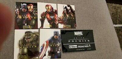 2019 Sdcc Comic Con Exclusive Kotobukiya Marvel Promo 5 Card Set Iron Man Thor