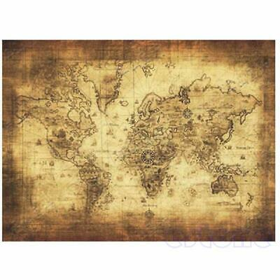 New Large Vintage Style Retro Paper Poster Globe Old World Map Gifts 71x51cm