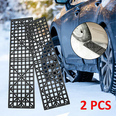 Pair 4WD Black Recovery Traction Tracks Sand Mud Snow Off Road Track Tire Ladder