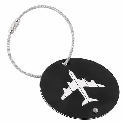 Traveling Aluminium Alloy Round Shaped Airport Luggage Handbag Name Tag Black