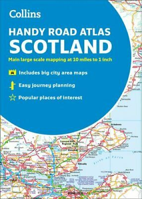 Collins Handy Road Atlas Scotland by Collins Maps 9780008276393 | Brand New