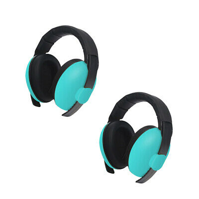 2pc Baby Anti Noise Earmuffs Folding Noise Reduction Protectors Muff Green