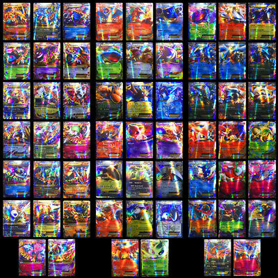 100/120/300PCS TAG TEAM MEGA GX Ultra Beast Pokemon TCG Trading Flash Card Gift
